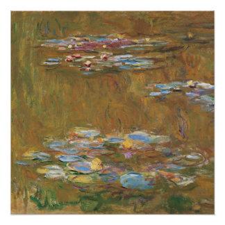 Claude Monet la charca GalleryHD del lirio de agua Perfect Poster