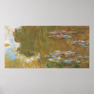 Claude Monet la charca GalleryHD del lirio de agua Póster