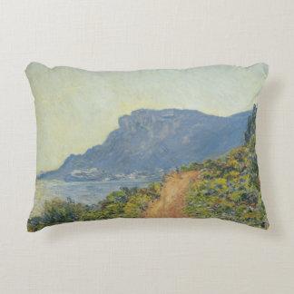 Claude Monet - La Corniche near Monaco Accent Pillow