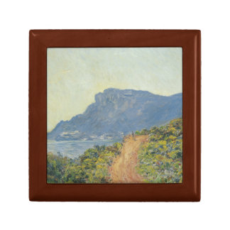 Claude Monet - La Corniche near Monaco Keepsake Box