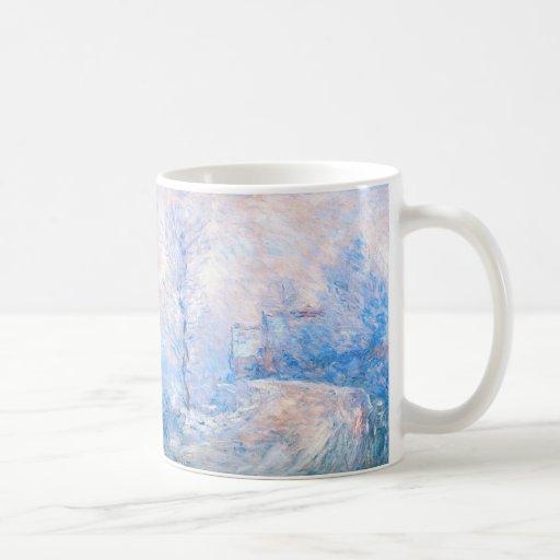 Claude Monet: La entrada a Giverny debajo de la ni Taza Básica Blanca