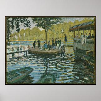Claude Monet - La Grenouillere Print