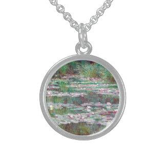 Claude Monet la pasarela japonesa Collar De Plata Esterlina