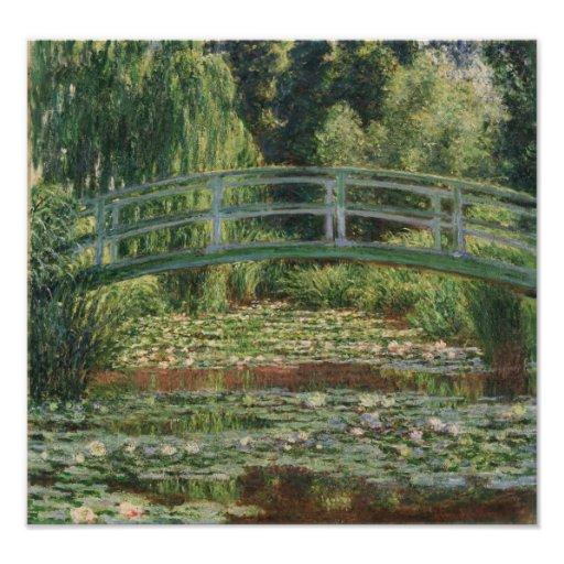 Claude Monet - la pasarela japonesa Foto