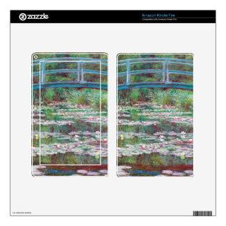Claude Monet la pasarela japonesa Skin Para Kindle Fire
