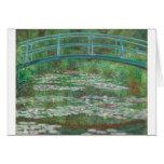 Claude Monet la pasarela japonesa Tarjeta De Felicitación