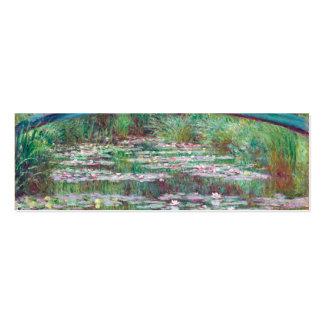Claude Monet la pasarela japonesa Tarjetas De Visita Mini
