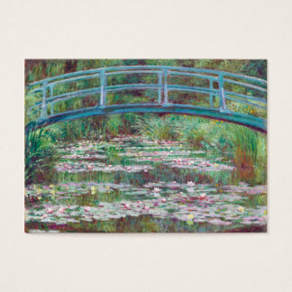 Claude Monet la pasarela japonesa Tarjeta De Negocios