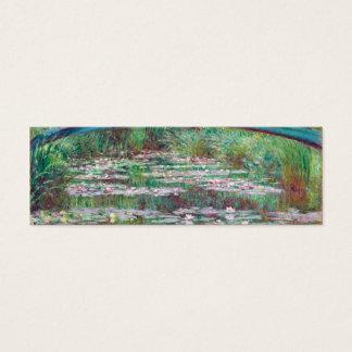 Claude Monet la pasarela japonesa Tarjeta De Visita Pequeña