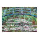 Claude Monet la pasarela japonesa Tarjetas De Visita Grandes