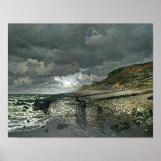 Claude Monet - La Pointe de la Hève at Low Tide Poster