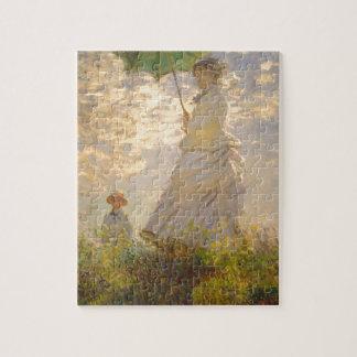 Claude Monet // La Promenade // Umbrella Jigsaw Puzzle