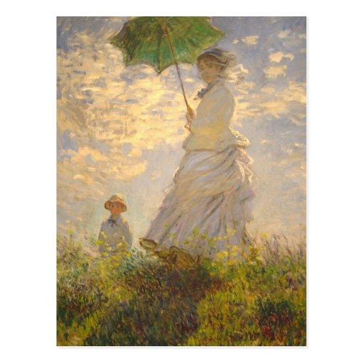 Claude Monet // La Promenade // Umbrella Post Card