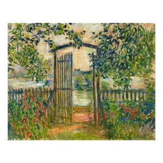 Claude Monet: La puerta de jardín en Vetheuil Póster