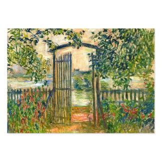 Claude Monet: La puerta de jardín en Vetheuil Tarjetas De Visita Grandes