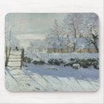 Claude Monet - la urraca Tapetes De Ratón