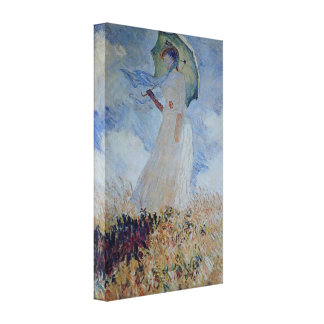 Claude Monet - Lady with umbrella Canvas Print