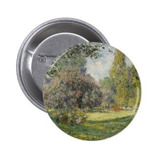 Claude Monet Landscape Button