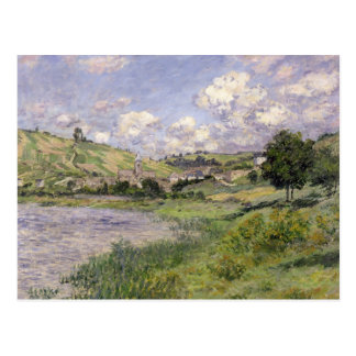 Claude Monet   Landscape, Vetheuil, 1879 Postcard