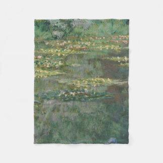 Claude Monet - Le Bassin des Nympheas Fleece Blanket