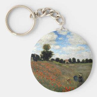 Claude Monet - Les Coquelicots Keychain