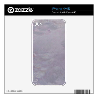 Claude Monet | Light-coloured Waterlilies Decals For iPhone 4S