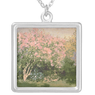 Claude Monet | Lilac in the Sun, 1873 Silver Plated Necklace