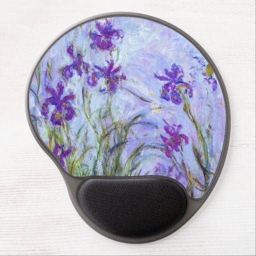 Claude Monet - Lilac Irises / Iris Mauves Gel Mouse Pad
