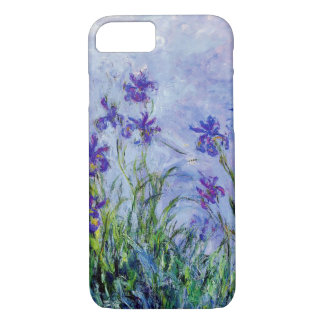 Claude Monet Lilac Irises Vintage Floral Blue iPhone 7 Case
