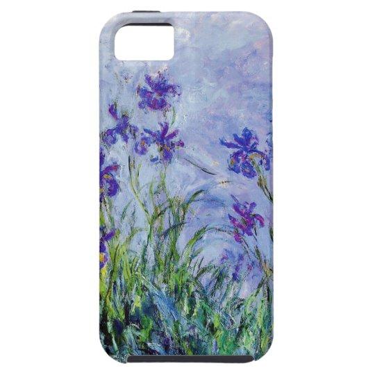 Claude Monet Lilac Irises Vintage Floral Blue iPhone SE/5/5s Case