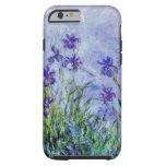 Claude Monet Lilac Irises Vintage Floral Blue Tough iPhone 6 Case