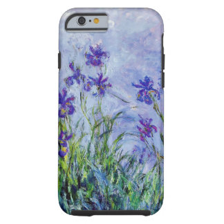 Claude Monet Lilac Irises Vintage Floral Blue Tough iPhone 6 Case