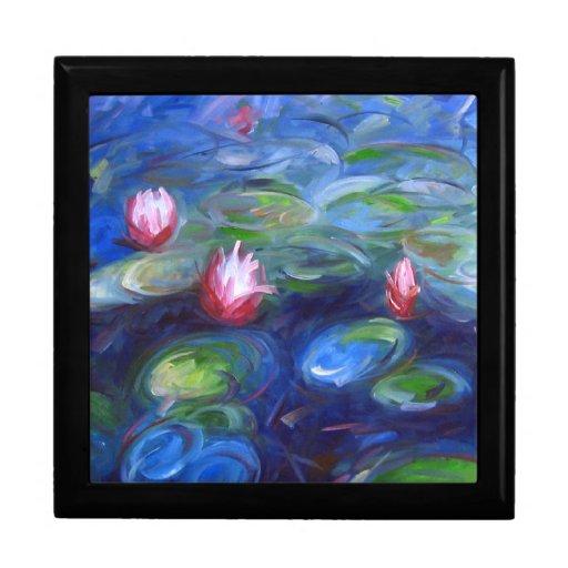 Claude Monet: Lirios de agua 2 Joyero Cuadrado Grande