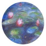 Claude Monet: Lirios de agua 2 Plato De Comida