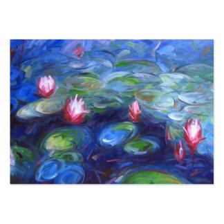 Claude Monet: Lirios de agua 2 Tarjetas De Visita Grandes