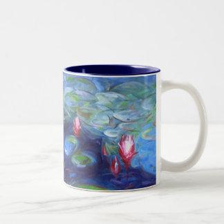 Claude Monet: Lirios de agua 2 Taza Dos Tonos