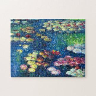 Claude Monet: Lirios de agua 3 Rompecabeza Con Fotos