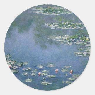 Claude Monet - lirios de agua - Ryerson 1906 Pegatinas Redondas