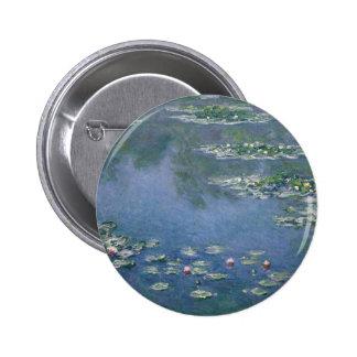 Claude Monet - lirios de agua - Ryerson 1906 Pin Redondo De 2 Pulgadas