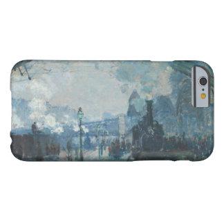 Claude Monet - llegada del tren de Normandía Funda Para iPhone 6 Barely There