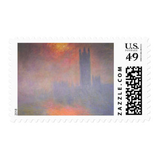 Claude Monet London Houses of Parliament UK Postage