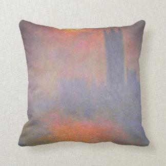 Claude Monet London Houses of Parliament UK Throw Pillow