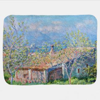 Claude Monet: Los jardineros contienen en Antibes Mantitas Para Bebé