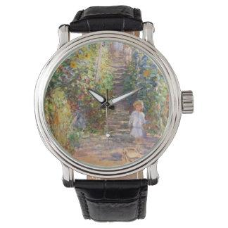 Claude Monet los regalos del destino del jardín Reloj De Mano