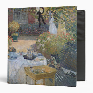 Claude Monet | Luncheon: Monet's garden Argenteuil 3 Ring Binder