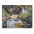 Claude Monet   Luncheon: Monet's garden Argenteuil Postcard