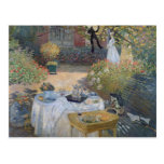 Claude Monet | Luncheon: Monet's garden Argenteuil Postcard