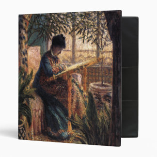 Claude Monet: Madame Monet Embroidering 3 Ring Binder