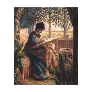 Claude Monet: Madame Monet Embroidering