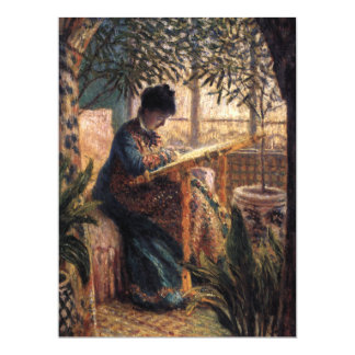 Claude Monet: Madame Monet Embroidering Card